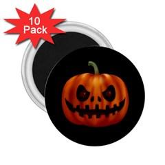 Halloween Pumpkin 2 25  Magnets (10 Pack)  by Valentinaart