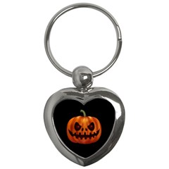 Halloween Pumpkin Key Chains (heart)  by Valentinaart