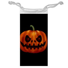 Halloween Pumpkin Jewelry Bag by Valentinaart
