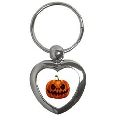 Halloween Pumpkin Key Chains (heart)  by Valentinaart