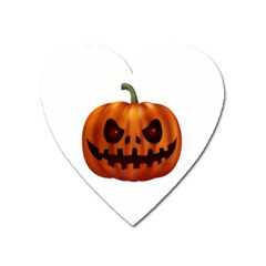 Halloween Pumpkin Heart Magnet by Valentinaart