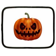 Halloween Pumpkin Netbook Case (xxl)  by Valentinaart