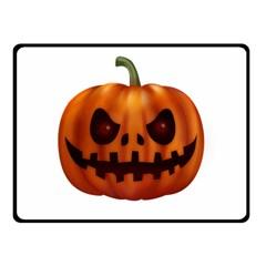 Halloween Pumpkin Fleece Blanket (small) by Valentinaart
