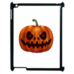 Halloween Pumpkin Apple Ipad 2 Case (black) by Valentinaart