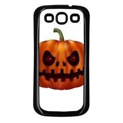 Halloween Pumpkin Samsung Galaxy S3 Back Case (black) by Valentinaart