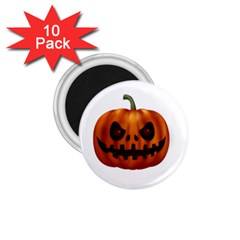 Halloween Pumpkin 1 75  Magnets (10 Pack)  by Valentinaart
