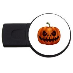 Halloween Pumpkin Usb Flash Drive Round (2 Gb) by Valentinaart