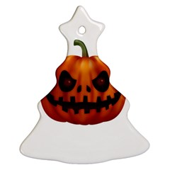 Halloween Pumpkin Christmas Tree Ornament (two Sides) by Valentinaart
