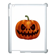 Halloween Pumpkin Apple Ipad 3/4 Case (white) by Valentinaart