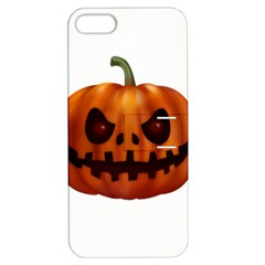 Halloween Pumpkin Apple Iphone 5 Hardshell Case With Stand by Valentinaart