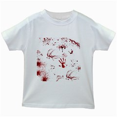 Massacre  Kids White T Shirts by Valentinaart
