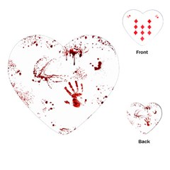 Massacre  Playing Cards (heart)  by Valentinaart