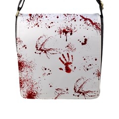 Massacre  Flap Messenger Bag (l)  by Valentinaart