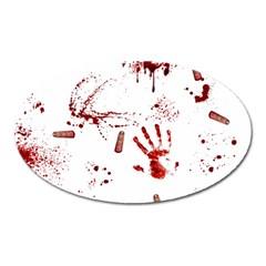 Massacre  Oval Magnet by Valentinaart