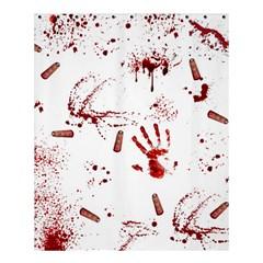 Massacre  Shower Curtain 60  X 72  (medium)  by Valentinaart