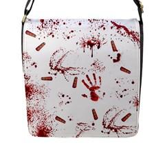 Massacre  Flap Messenger Bag (l)  by Valentinaart