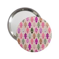 Christmas Tree Pattern 2 25  Handbag Mirrors by Valentinaart