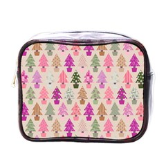 Christmas Tree Pattern Mini Toiletries Bags by Valentinaart