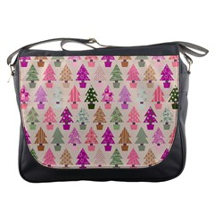 Christmas Tree Pattern Messenger Bags by Valentinaart