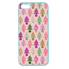 Christmas Tree Pattern Apple Seamless Iphone 5 Case (color) by Valentinaart