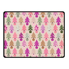 Christmas Tree Pattern Double Sided Fleece Blanket (small)  by Valentinaart