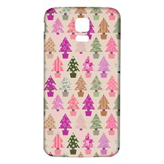 Christmas Tree Pattern Samsung Galaxy S5 Back Case (white) by Valentinaart