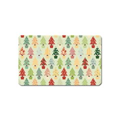 Christmas Tree Pattern Magnet (name Card) by Valentinaart