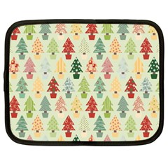 Christmas Tree Pattern Netbook Case (xxl)  by Valentinaart
