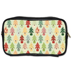 Christmas Tree Pattern Toiletries Bags 2 Side by Valentinaart