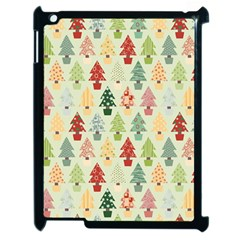 Christmas Tree Pattern Apple Ipad 2 Case (black) by Valentinaart