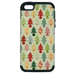 Christmas Tree Pattern Apple Iphone 5 Hardshell Case (pc+silicone) by Valentinaart
