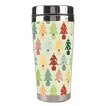 Christmas tree pattern Stainless Steel Travel Tumblers Left