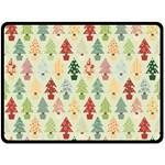 Christmas tree pattern Double Sided Fleece Blanket (Large)  80 x60 Blanket Front