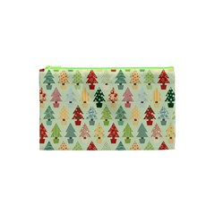 Christmas Tree Pattern Cosmetic Bag (xs) by Valentinaart