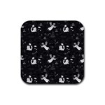 Christmas pattern Rubber Square Coaster (4 pack)