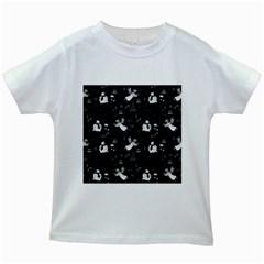 Christmas pattern Kids White T-Shirts