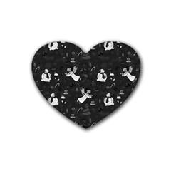 Christmas pattern Rubber Coaster (Heart)