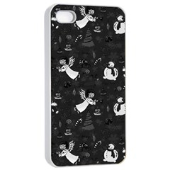 Christmas pattern Apple iPhone 4/4s Seamless Case (White)