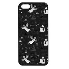 Christmas pattern Apple iPhone 5 Seamless Case (Black)