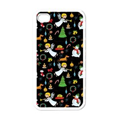 Christmas Pattern Apple Iphone 4 Case (white) by Valentinaart