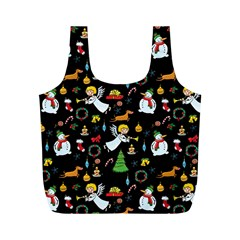 Christmas Pattern Full Print Recycle Bags (m)  by Valentinaart
