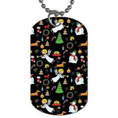 Christmas Pattern Dog Tag (two Sides) by Valentinaart