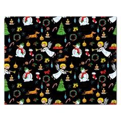 Christmas Pattern Rectangular Jigsaw Puzzl by Valentinaart