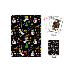 Christmas Pattern Playing Cards (mini)  by Valentinaart