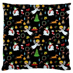 Christmas Pattern Standard Flano Cushion Case (two Sides) by Valentinaart