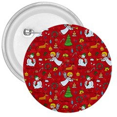 Christmas Pattern 3  Buttons by Valentinaart