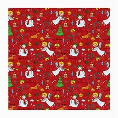 Christmas Pattern Medium Glasses Cloth (2 Side) by Valentinaart
