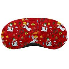 Christmas Pattern Sleeping Masks by Valentinaart