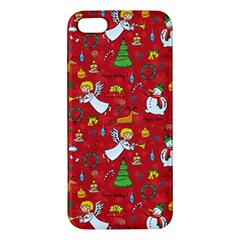 Christmas Pattern Apple Iphone 5 Premium Hardshell Case by Valentinaart