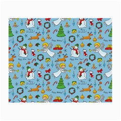 Christmas Pattern Small Glasses Cloth (2 Side) by Valentinaart